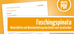 Grafik Download Faschingspinata Bastelanleitung