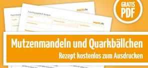 Grafik Download Rezepte für Quarkbällchen und Mutzenmandeln