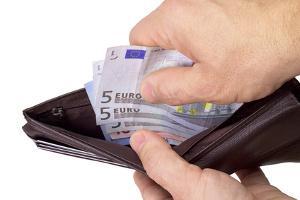 Bild Geldbeutel mit Scheinen