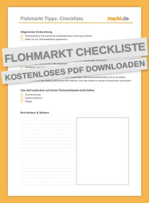 Checkliste Flohmarkt