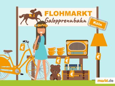 Grafik Flohmarkt Kölner Galopprennbahn