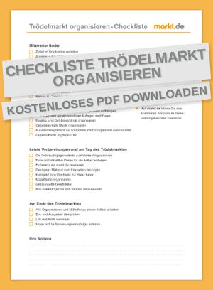 Checkliste Trödelmarkt organisieren