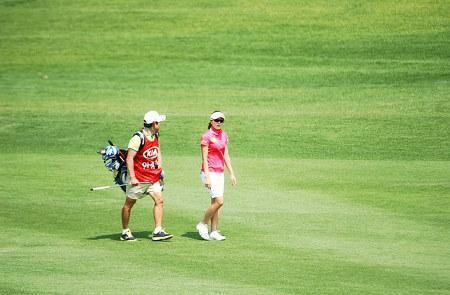 Bild Golfer auf Golfplatz