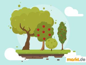 Grafik Bäume für den Garten