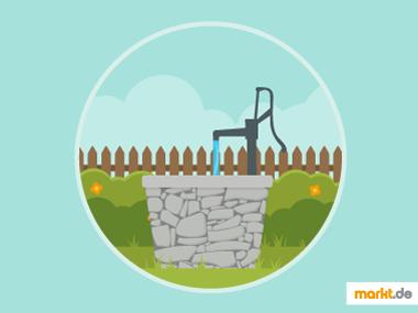 Grafik Brunnen für den Garten bauen