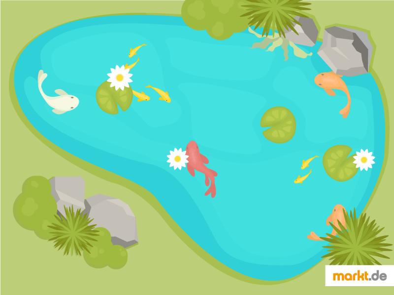 Bei Der Gestaltung Des Gartens Nehmen Mit Wasser Verbundene Elemente Einen  Hohen Stellenwert Ein. Ein Teich Sorgt Für Atmosphäre Und Lässt Ihren Garten  ...
