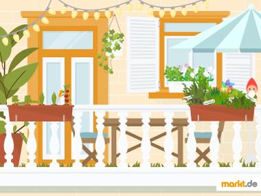 Grafik Balkon zum entspannenden Garten machen