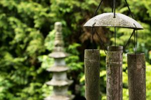 Bild Feng Shui im Garten Windspiel