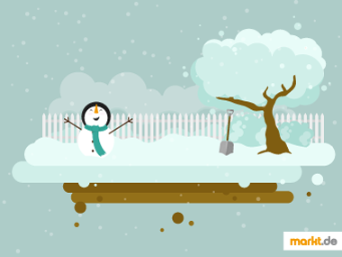 Grafik Gartenarbeit im Winter