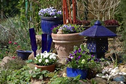 Bild Gartendeko Töpfe Laterne