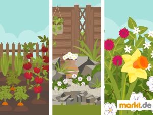 Grafik verschiedene Gartentypen