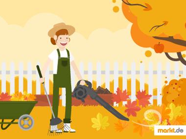 Grafik Herbstlaub im Garten