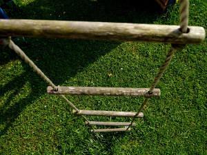 Bild Strickleiter zu Baumhaus