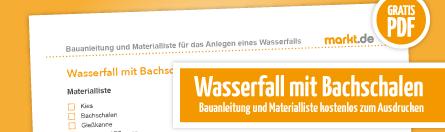 Grafik Downloadbild Wasserfall mit Bachschalen