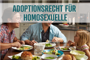 Bild schwules Paar Adoption