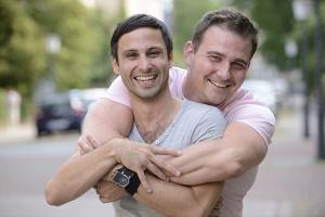 Bild schwules Paar Coming Out