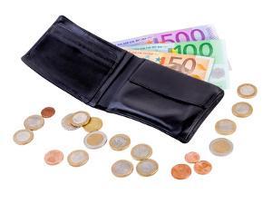 Bild Geldbeutel mit Geld
