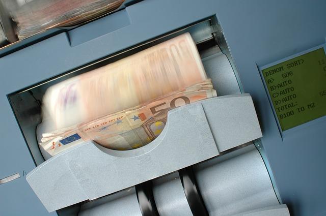 Bild Geldzählmaschine