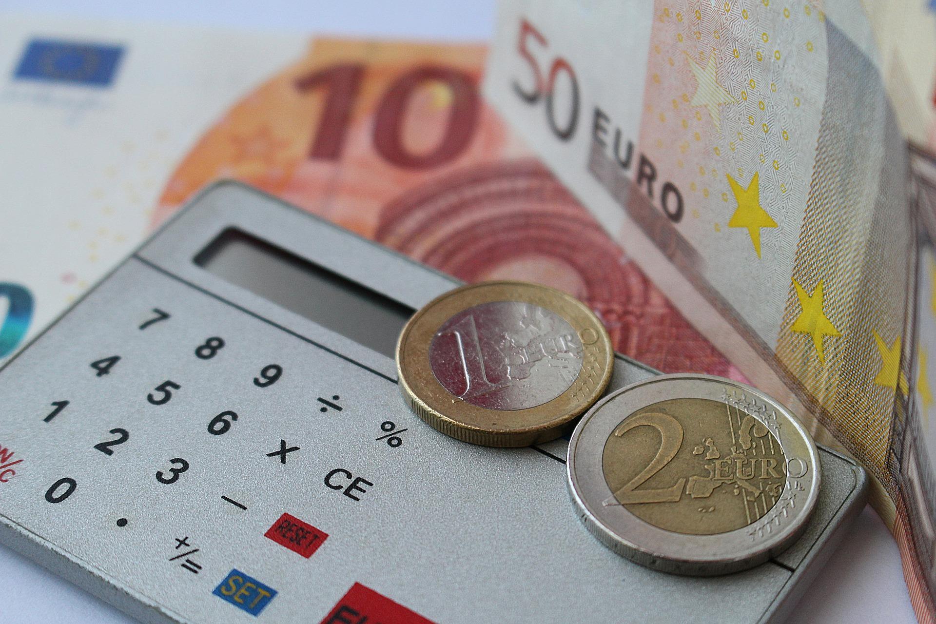Bild Geld Taschenrechner