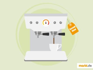 Grafik Espressomaschine gebraucht