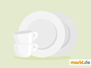Bild zwei Teller und zwei Tassen