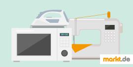 Bild Nähmaschnine, Mikrowelle und Bügeleisen