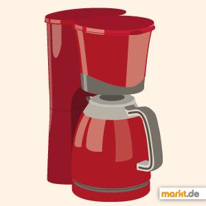 Bild rote Kaffeemaschine