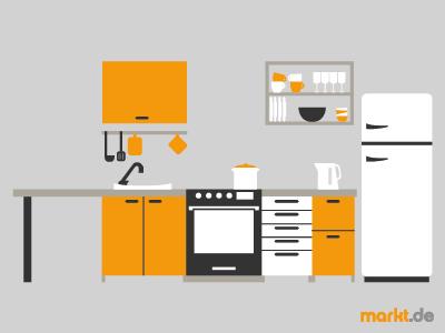 Grafik Küche mit Arbeitsplatte