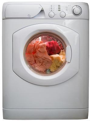Bild beladenen Waschmaschine