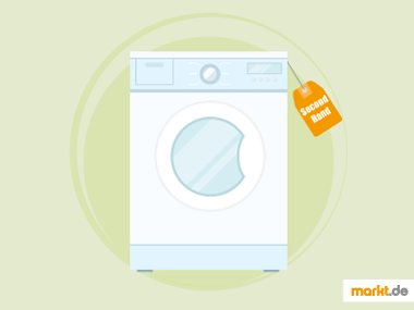 Grafik gebrauchte Waschmaschine
