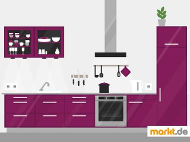 Bild Küche in der Farbe Lila