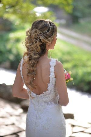 Braut mit Brautfrisur