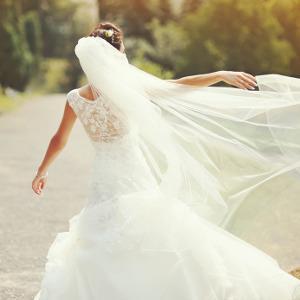 Bild Braut mit langem Schleier