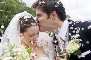 Bild glückliches Brautpaar