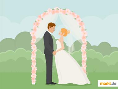 Grafik Hochzeit Trauung