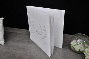 Bild weißes Gästebuch für Hochzeit