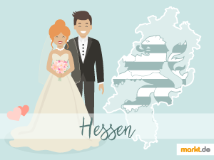 Grafik Romantische Hochzeitslocations in Hessen