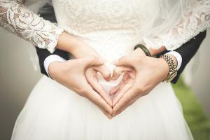 Bild Hochzeit Paar Herz