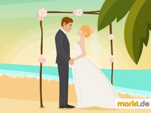 Grafik Hochzeit im Ausland