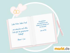 Grafik Hochzeitsgästebuch