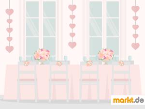 Grafik Dekoration für Hochzeit
