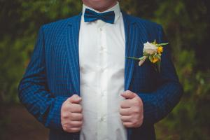 Bild Hochzeitsanzug in Blau