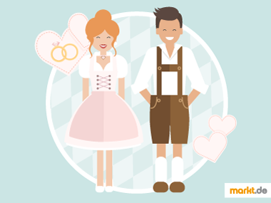 Grafik Hochzeitsmotto Trachten