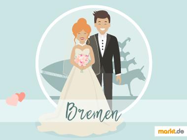 Grafik Romantische Orte für eine Hochzeit Bremen