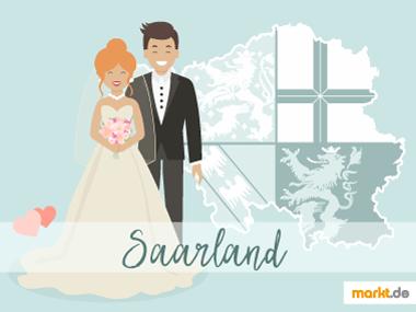 Grafik Romantische Orte für eine Hochzeit Saarland