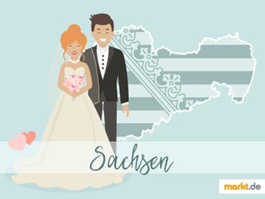 Grafik  Romantische Orte für eine Hochzeit in Sachsen
