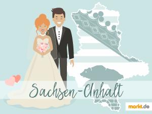 Grafik Romantische Hochzeitslocations in Sachsen-Anhalt