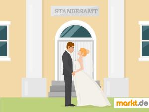 Grafik standesamtliche Hochzeit