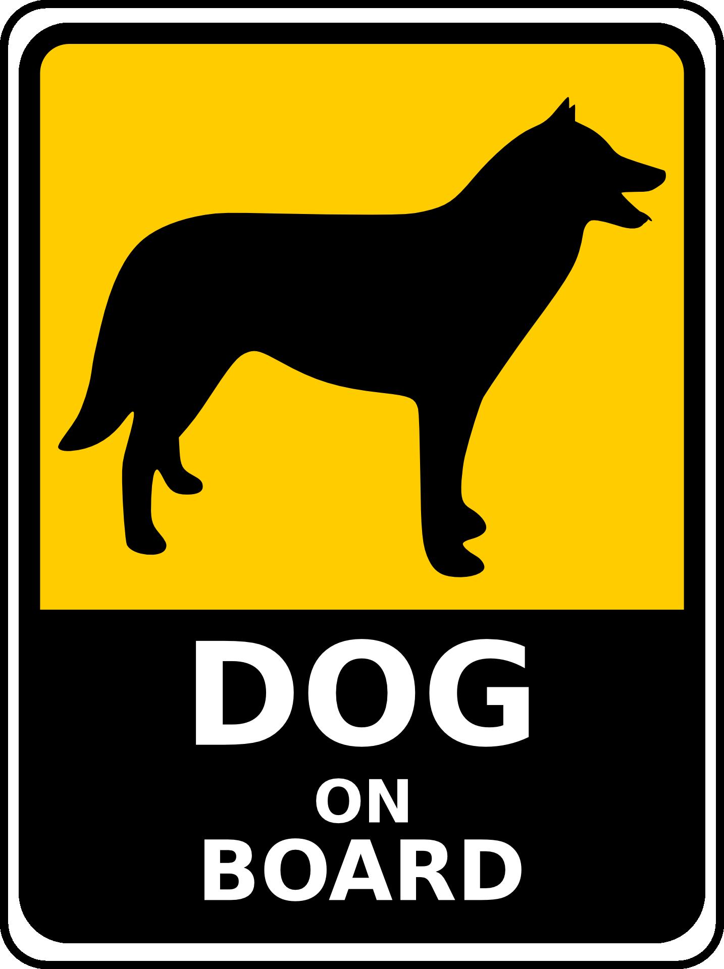 Bild Grafik Hund an Bord