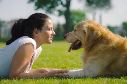 Bild von Hundesitterin mit Hund